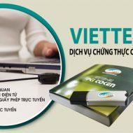 Bảng Giá Gia Hạn Chữ Ký Số Viettel CA