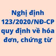 Nghị định 123/2020/NĐ-CP về hóa đơn điện tử